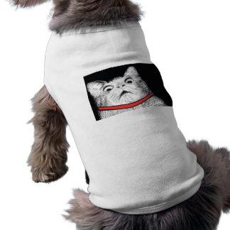 Grito de asombro sorprendido Meme - ropa del gato  Playera Sin Mangas Para Perro