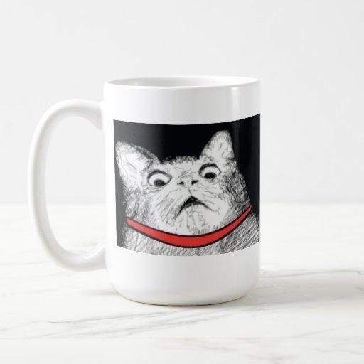 Grito de asombro sorprendido Meme - taza del gato
