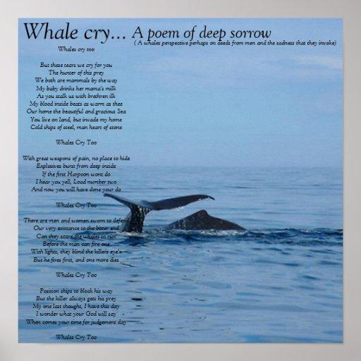 Grito de la ballena…, poema de A del dolor profund Impresiones