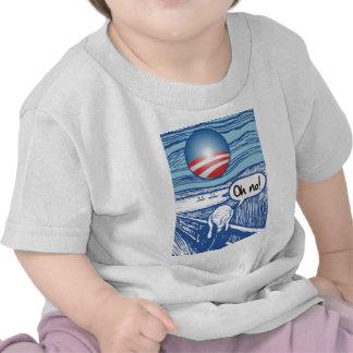 grito de obama camiseta