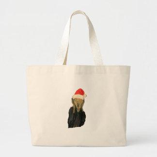Grito del navidad bolsa tela grande