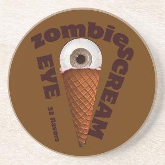 grito del ojo del zombi posavasos diseño