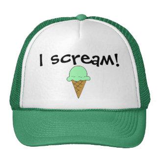Grito el gorra del camionero del helado