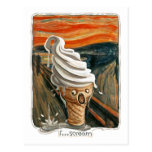 Grito el helado tarjetas postales