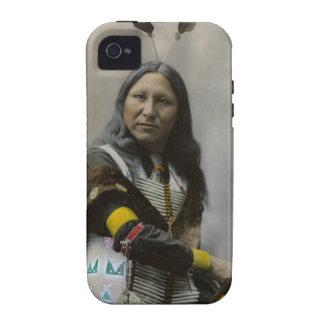 Grito en el indio de Oglala Siux 1899 iPhone 4 Carcasa