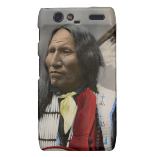 Grito en el vintage del indio de Oglala Siux 1899 Droid RAZR Fundas