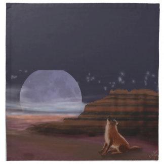 Grito en la luna servilleta imprimida