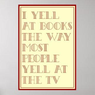 Grito en los libros póster