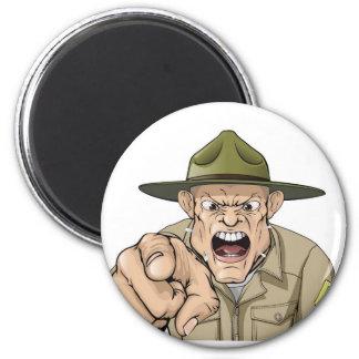 Grito enojado del sargento de taladro del ejército imán de nevera