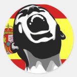 Grito España Etiquetas Redondas
