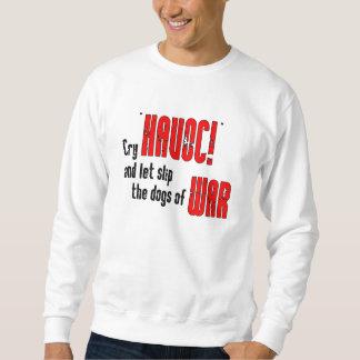 """Grito """"estrago!"""" y deje el resbalón los perros de suéter"""