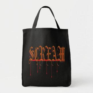 GRITO Halloween sangriento Bolsa Tela Para La Compra