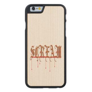 GRITO Halloween sangriento Funda De iPhone 6 Carved® Slim De Arce