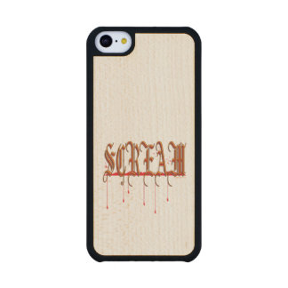 GRITO Halloween sangriento Funda De iPhone 5C Slim Arce