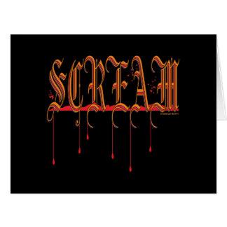 GRITO Halloween sangriento Felicitaciones