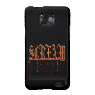 GRITO Halloween sangriento Samsung Galaxy S2 Fundas
