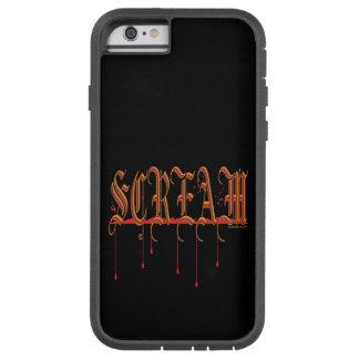 GRITO Halloween sangriento Funda De iPhone 6 Tough Xtreme