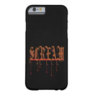 GRITO Halloween sangriento Funda De iPhone 6 Barely There