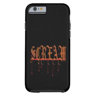 GRITO Halloween sangriento Funda De iPhone 6 Tough