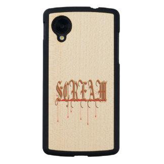 GRITO Halloween sangriento Funda De Nexus 5 Carved® Slim De Arce
