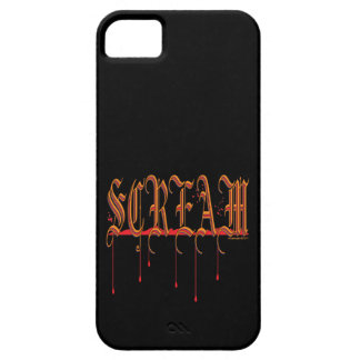 GRITO Halloween sangriento Funda Para iPhone 5 Barely There