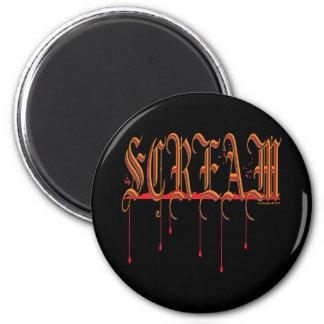 GRITO Halloween sangriento Imán De Frigorífico