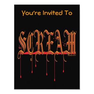 GRITO Halloween sangriento Comunicado Personalizado