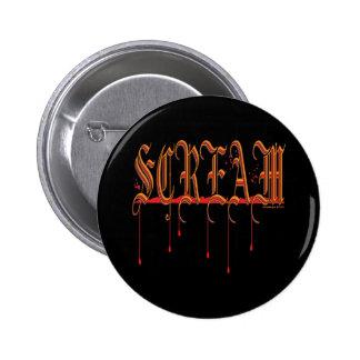 GRITO Halloween sangriento Pins