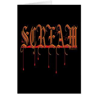 GRITO Halloween sangriento Tarjetas