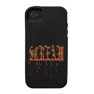 GRITO Halloween sangriento Vibe iPhone 4 Fundas