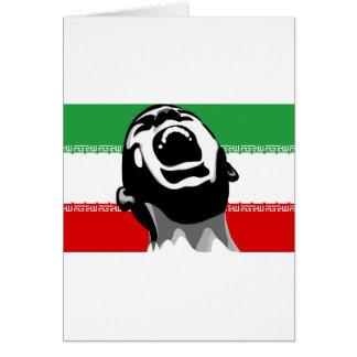 Grito Irán Tarjeta De Felicitación