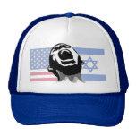 Grito los Israel-E.E.U.U. Gorras