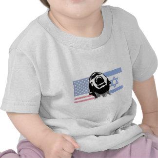 Grito los Israel-E.E.U.U. Camiseta