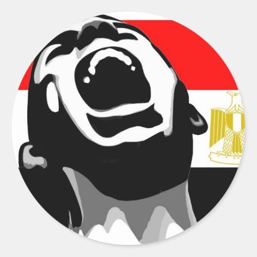 Grito para Egipto Pegatina Redonda