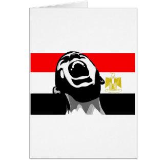 Grito para Egipto Tarjeta De Felicitación