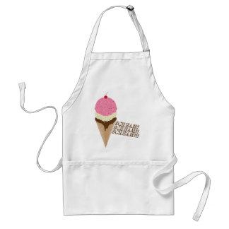 Grito para el helado delantal