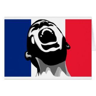 Grito para Francia Tarjeta De Felicitación