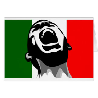 Grito para Italia Tarjeta De Felicitación