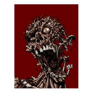 Grito putrefacto angustiado de la carne del zombi postales