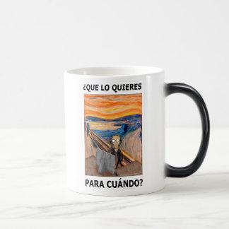 GRITO - ¿Que lo quieres para cuándo? 11 Oz Magic Heat Color-Changing Coffee Mug