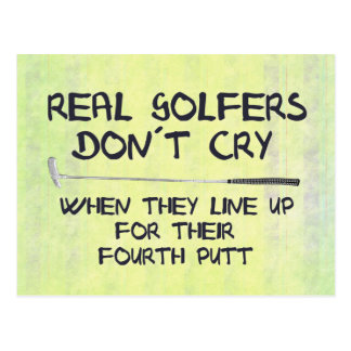 Grito real del don´t de los golfistas postal