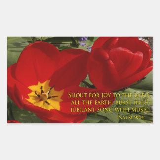 grito rojo de los tulipanes - 98:4 del salmo rectangular altavoz