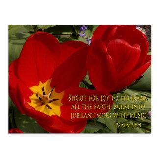 grito rojo de los tulipanes - postal del 98:4 del