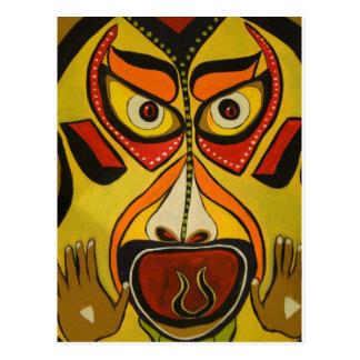 Grito tribal tarjeta postal