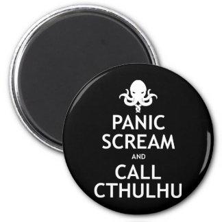Grito y llamada Cthulhu del pánico Iman