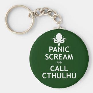 Grito y llamada Cthulhu del pánico Llaveros Personalizados