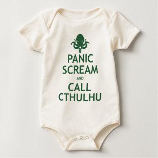 Grito y llamada Cthulhu del pánico Mameluco