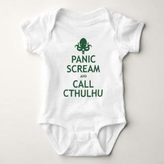 Grito y llamada Cthulhu del pánico Mameluco De Bebé