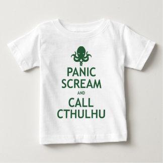 Grito y llamada Cthulhu del pánico Playera De Bebé