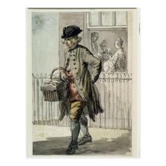 Gritos de Londres: Un hombre de mollete, c.1759 Tarjetas Postales